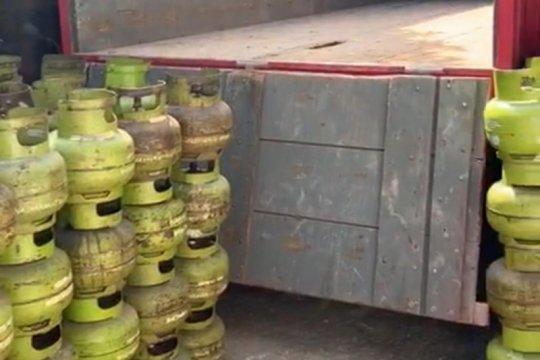 Polda Banten sita ratusan tabung gas elpiji 3 kg dijual tanpa ijin