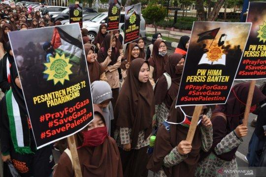 Aksi solidaritas untuk warga Palestina
