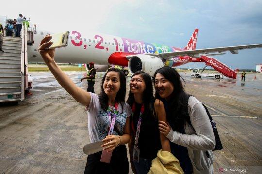 Penyambutan pesawat AirAsia Airbus  A321NEO