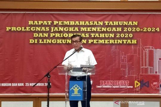 Yasonna kecewa pengesahan RUU Prolegnas 2015-2019 sangat rendah