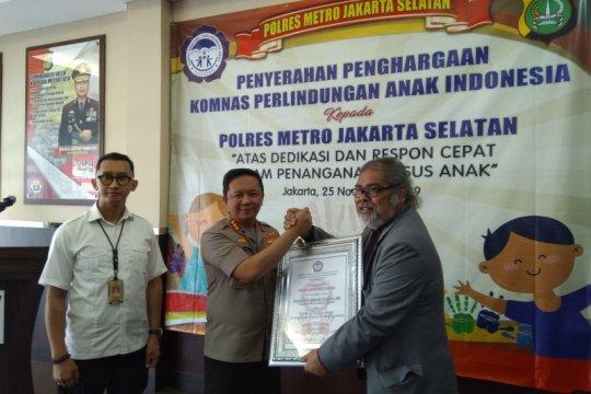 Polres Jaksel terima penghargaan dari Komnas Perlindungan Anak