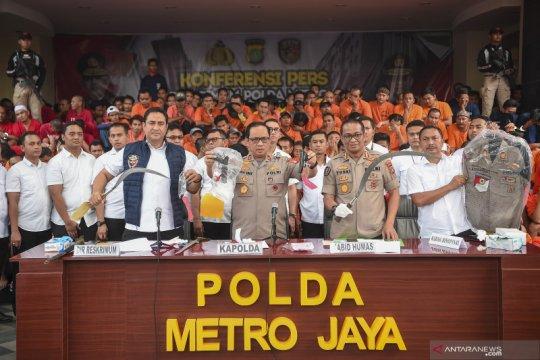 Rilis tersangka Operasi Sikat Jaya 2019