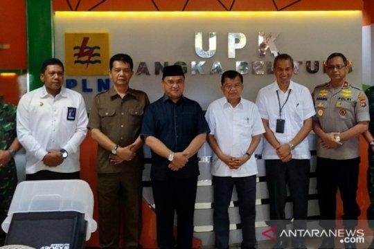 Mantan Wapres Jusuf Kalla kunjungi PLTU Air Anyir Bangka