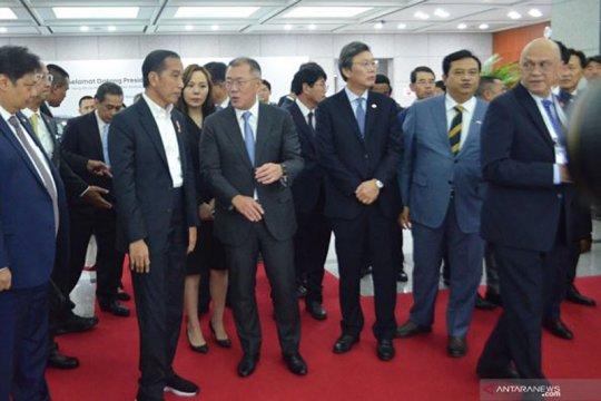 Jokowi kunjungi pabrik Hyundai Motor di Ulsan Korsel