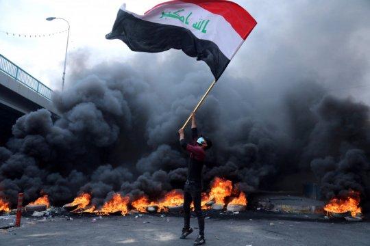 Pemrotes Irak tutup jalan untuk percepat reformasi