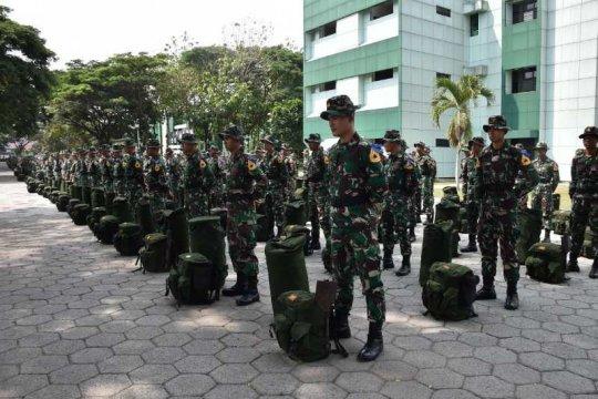 Taruna Akademi Militer akan praja bakti di Sleman