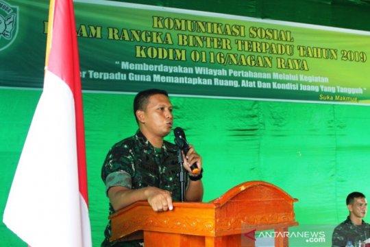 Dandim Nagan Raya: Paham radikal dan separatis harus dicegah