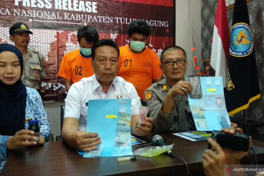 BNN-Polisi tangkap dua pengedar narkoba jaringan Lapas Tulungagung