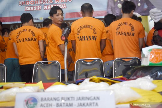 Polres Pelabuhah Tanjung Priok tangkap 44 tersangka kasus narkotika