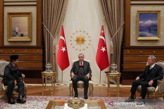 Menhan Prabowo bertemu Presiden Erdogan perkuat kerja sama pertahanan