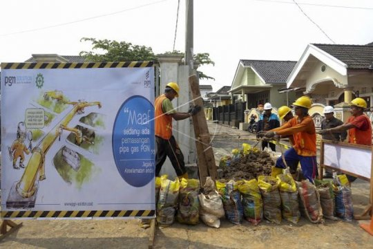 Pemkot Palembang terima 17.000 jaringan gas rumah tangga