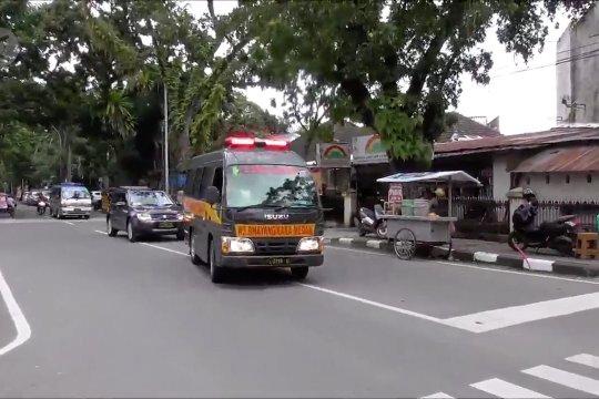 Jenazah pelaku bom Medan dan korban luka di bawa ke RS Bhayangkara