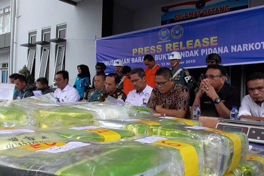 BNN-TNI AL musnahkan 50 kilogram shabu-shabu
