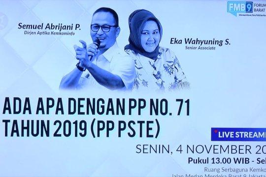 Kemenkominfo tegaskan PSE lingkup publik dan  privat