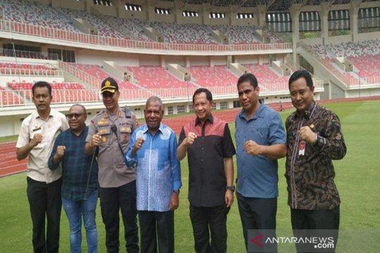 Mendagri tinjau stadion Papua Bangkit di Kampung Harapan