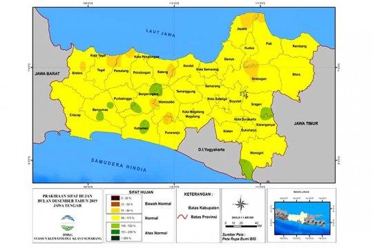 BMKG: sebagian wilayah Jawa Tengah hadapi hujan normal selama Desember