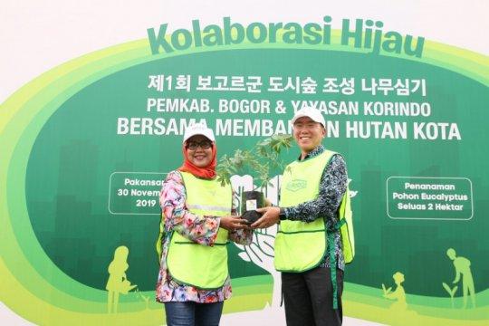 Yayasan Korindo dan Pemkab Bogor bangun hutan kota
