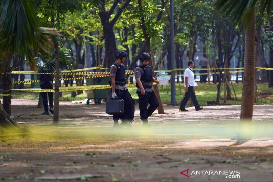 Ledakan di Monas, polisi lakukan olah TKP