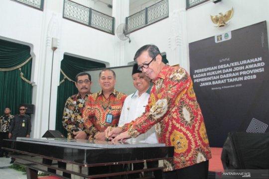 Menkumham resmikan 130 Desa Sadar Hukum di Bandung