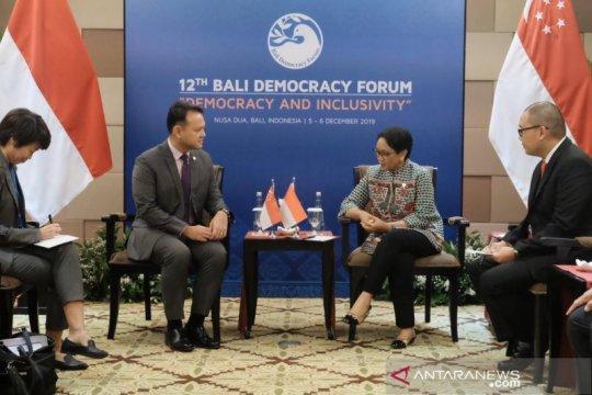 Menlu RI bertemu Menteri Singapura bahas penguatan kualitas SDM