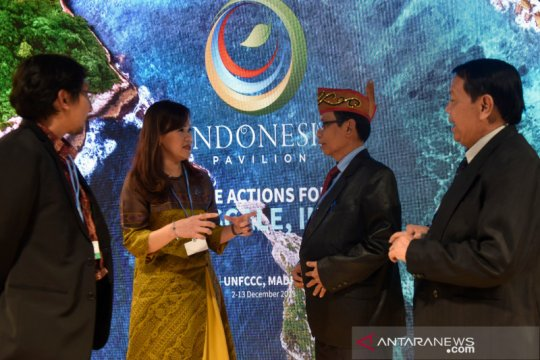 Diskusi pencegahan perubahan iklim di Paviliun Indonesia COP 25