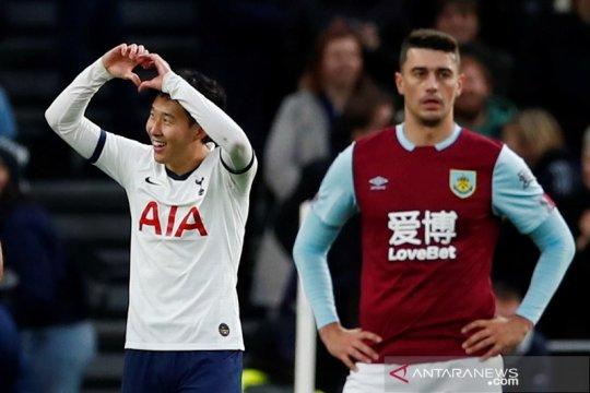 Heung-min cetak gol cantik, Tottenham cukur Burnley 5-0