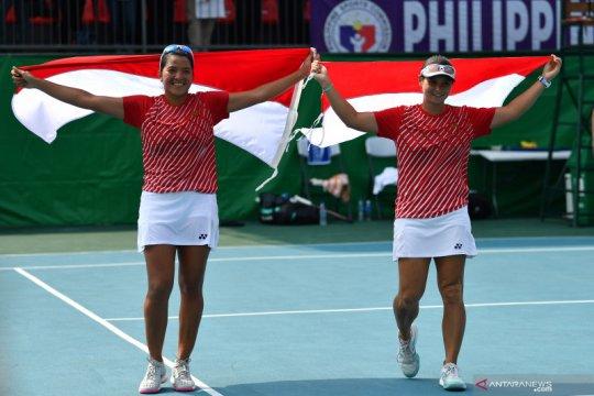 Tenis ganda putri Indonesia raih emas