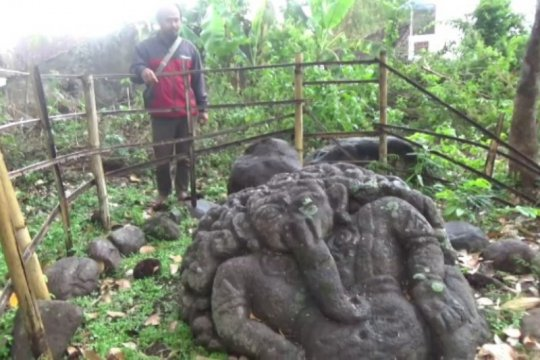 """BPCB Jatim teliti temuan arca """"Ganesha"""" di Magetan"""