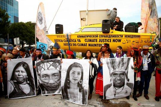 Aksi protes perubahan iklim di KTT Iklim COP25