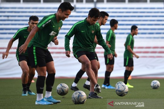 Latihan timnas U-22 Indonesia jelang laga final SEA Games 2019