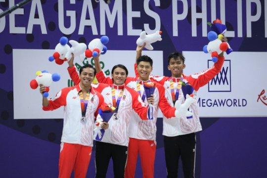 Indonesia tutup cabor renang dengan perak 4x100 estafet gaya ganti