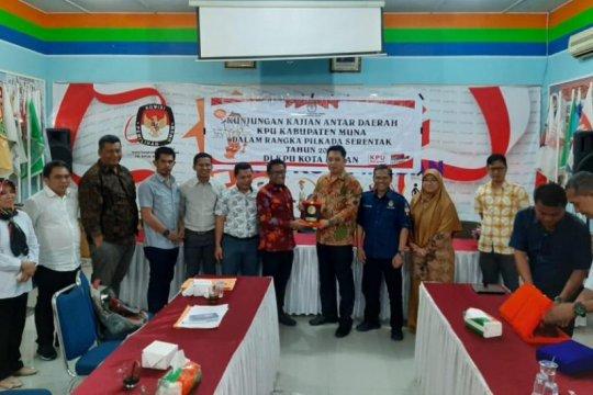 KPU Kabupaten Muna kunjungan kerja ke KPU Medan