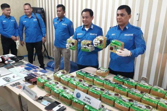 BNNP Lampung Lampung gagalkan peredaran sabu sebanyak 41,6 kg