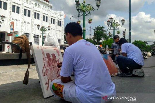 122 perupa Nusantara melukis bersama di Malioboro
