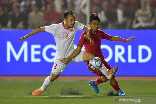Final sepak bola SEA Games 2019, Indonesia tertinggal satu gol dari Vietnam di babak I