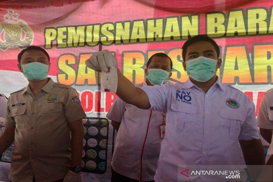 Polisi Banjarmasin musnahkan 1,8 kg sabu-sabu gunakan insinerator