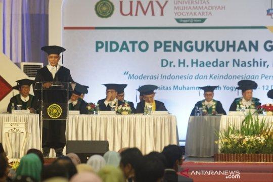 Pengukuhan Haedar Nashir menjadi Guru Besar UMY