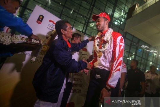 Kedatangan Timnas Bola Voli SEA Games 2019