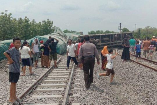 Kecelakaan KA pengangkut semen di Doplang Blora tidak ada korban jiwa