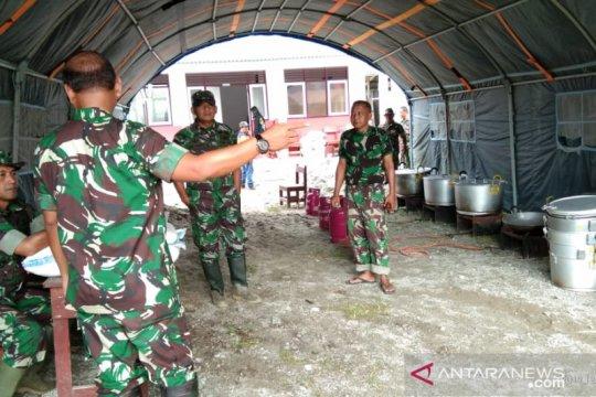 TNI bangun dapur umum untuk korban banjir bandang Sigi
