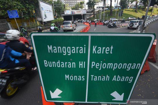 Uji coba sistem satu arah di Jakarta Pusat
