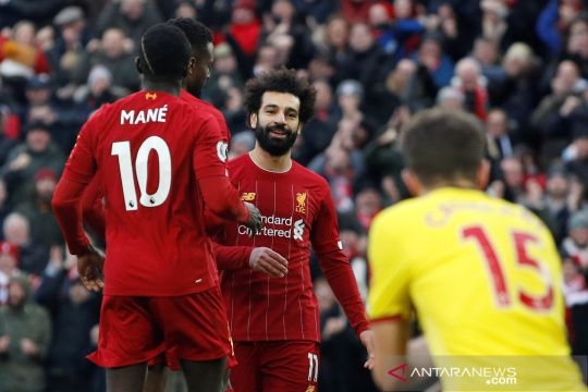 Liga Inggris:  Salah cetak dua gol, Liverpool kalahkan Watford 2-0