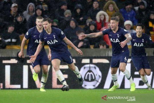 Gol menit akhir Vertonghen bawa Tottenham menang di Wolverhampton