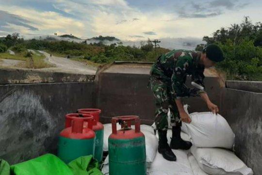Satgas Pamtas amankan amonium nitrat selundupan asal Malaysia