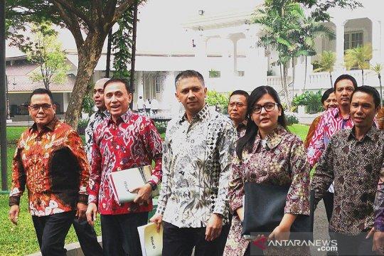 Bertemu Jokowi, PSSI minta kepastian kerja insan persepakbolaan