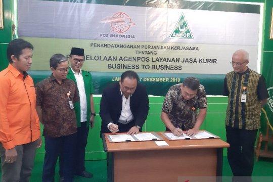 Kembangkan jaringan, Pos Indonesia jalin kerja sama dengan GP Ansor