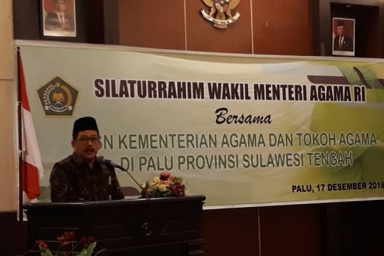 Wakil Menteri Agama silaturahim dengan tokoh lintas agama di Sulteng