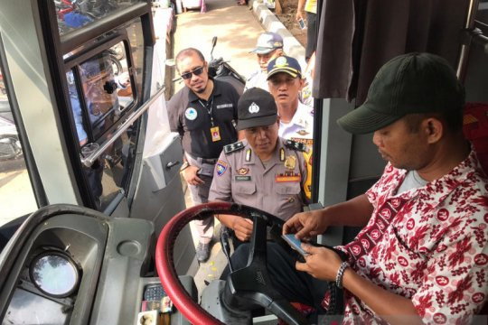 Puluhan pengendara bus di Terminal Kampung Rambutan bebas narkoba