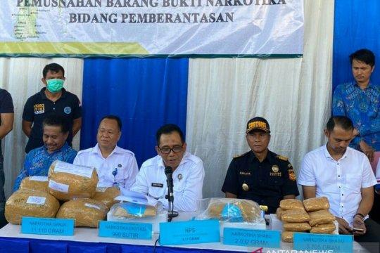 BNNP Sulsel musnahkan 11 kilogram narkoba