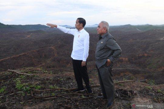 Presiden meninjau bakal lokasi ibu kota negara baru